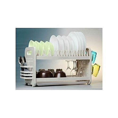 Plastic Plate Rack With Dish Drainer