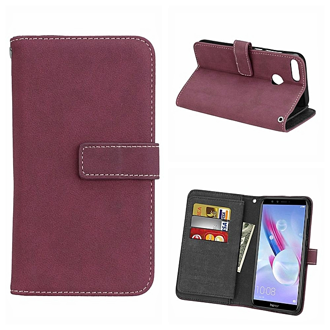check out 4dd35 8f172 Honor 9 Lite Case, Retro Frosted Matte PU Leather TPU Inner Bumper With [9  Card Slots] Wallet Magnetic Flip Stand Cover Case For Huawei Honor 9 Lite  ...