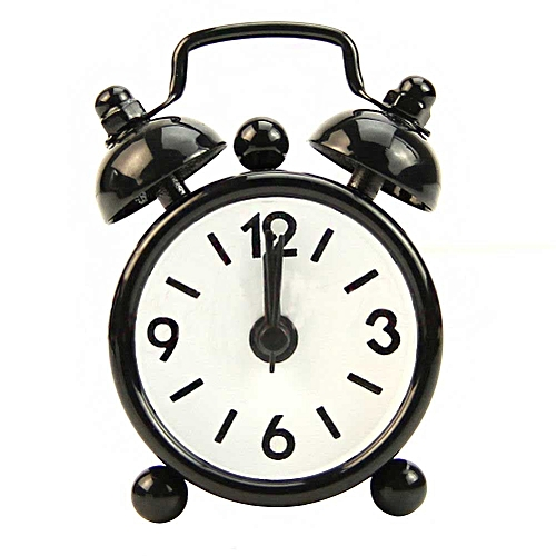 New Home Portable Cute Dial Number Round Table Alarm Clock Children Room Gift