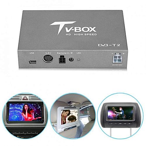 1080P HD DVB-T2 Car Digital TV Box Receiver With Antenna Tuner Remote Control
