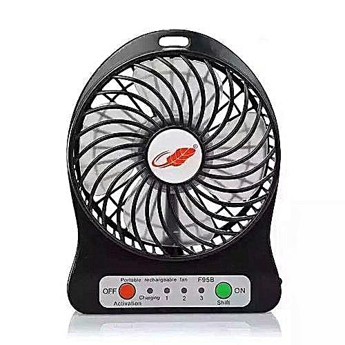 Fashion USB Fan Rechargeable Mini Fan Portable Desktop Lithium Battery High Wind Power