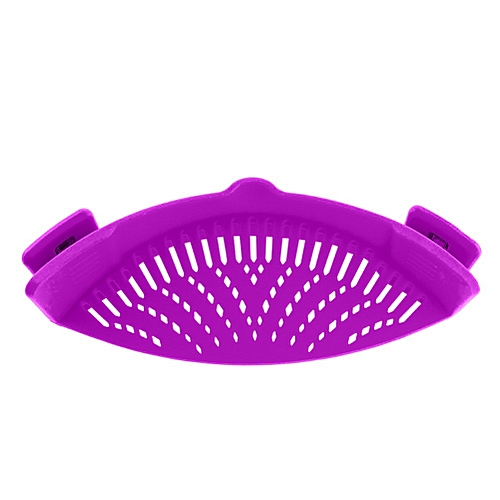 Gloryworld@Vegetable Noodles Washing Sieve Kitchen Cleaning Strainer Draining Liquid Tool-Purple