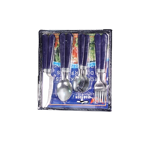 16 Dinning Cutlery, Table Knife 4, Spoons (8) & 4 Forks