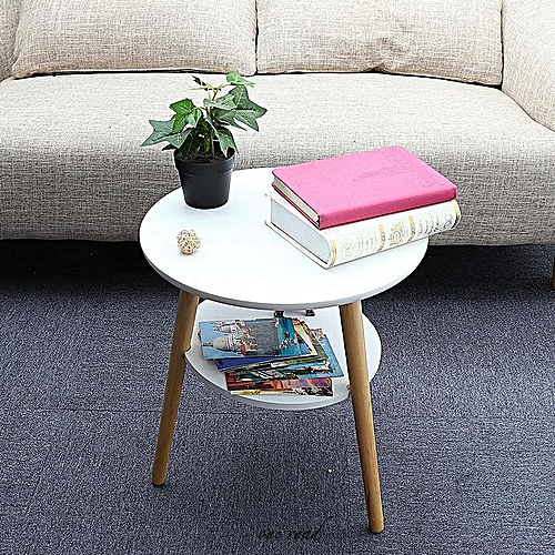 Round-Edged Table Cup With Bottom Storage Rack