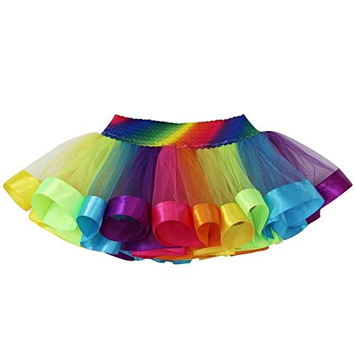 Children Baby Girl Tutu Tulle Party Dance Ballet Kids Rainbow Costume Skirt Princess Dress Musiccool