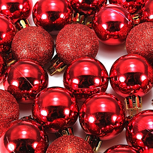 24Pcs 30mm Christmas Xmas Tree Ball Bauble Hanging Home Party Ornament Decor