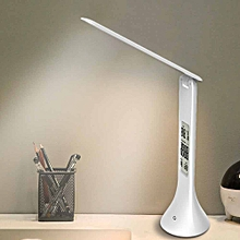 LED Desk Lamp Foldable Dimmable Touch-Type Table Lamp With Calendar Temperature  Clock Table Light Night Lights for sale  Nigeria