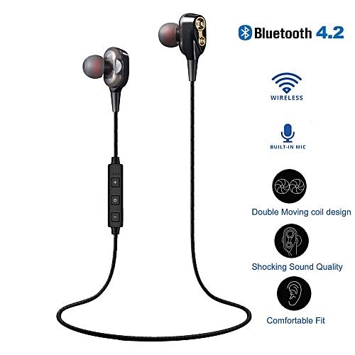 HIFI Heavy Bass Headphone Dual Dynamic Driver Earphone Wirless Bluetooth Headset