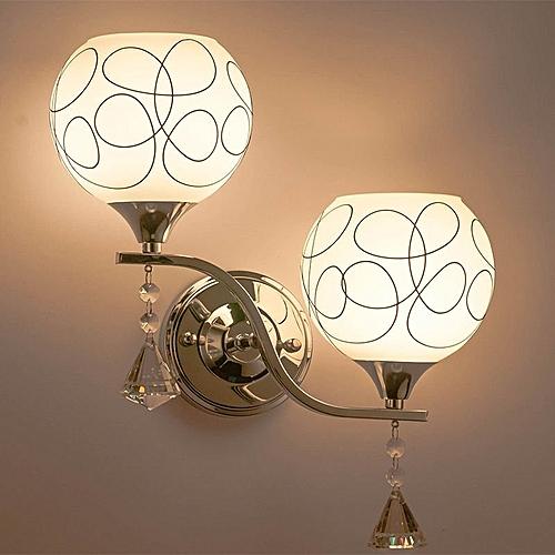 Modern LED Crystal Small Wall Lamp Sconce Lights Bedroom Bedside Lighting