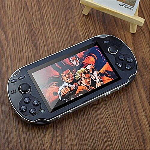 Generic 4.3 Inch Handheld Game Players Double Rocker Real 8gb Video Game Console Support tv Out Built In Hundred gba nes sega Games Black