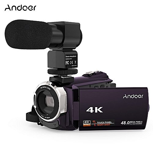 4K 1080P 48MP WiFi Digital Video Camera Camcorder Recorder