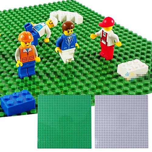 25*25cm Children Building Blocks Base Plate 32*32 Dots Small Bricks DIY Toy Parts Green