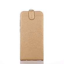 Sony Xperia Z3 Compact - D5803 - D5833 - Golden - Mobile Phone Case, Mandala Embossed Holster, Hand Strap, Bracket, Clamshell Cover for sale  Nigeria