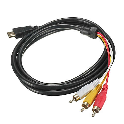 Back To Search Resultshome 1.5m Hdmi Male To 3 Rca Video Audio Cord Component Av Adapter Cable Hdtv 1080p Connect Line