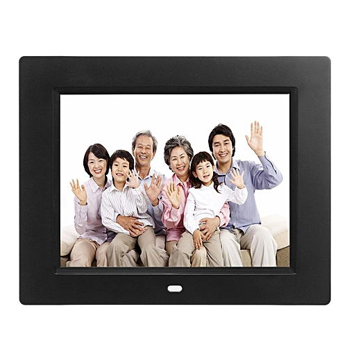 7'' TFT LCD HD Digital Photo Audio Video Music Clock Frame Auto Player W/ Remote Black EU