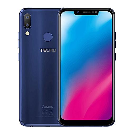 Camon 11 (CF7) 6 2-Inch Super FULLVIEW (3GB, 32GB ROM) Android 8 1 Oreo,  (13MP + 2MP) + 16MP Dual SIM 4G LTE Face ID Smartphone - Aqua Blue