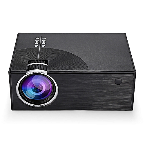C7 Portable LCD Projector Home Theater 2000 Lumens 800 X 480P Support 1080P - BLACK