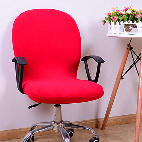Office Chair Stretch Swivel Rotate - Red