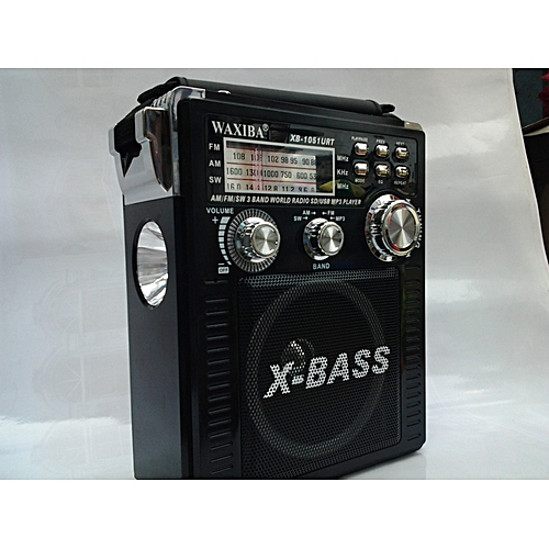 XBASS FM/AM/SW1-8 10 BAND WORLD RECEIVER RECHARGEABLE AND BATTERY RADIO