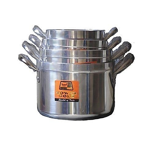 Cooking Pot Set 4 Pieces - Silver(tower Trim)16,18,20,22cm