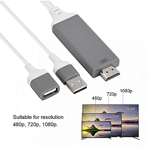 Phone To HDMI Cable Lightning Digital AV Adapter 1080P Plug Play For IOS  Android