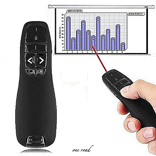Multimedia Presenter With Laser Pointer USB Receiver For Projector / PC / Laptop, Control Distance: 15m (R400)(Black)
