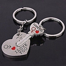 Braveayong New Couple I LOVE YOU Heart Keychain Ring Keyring Key Chain  Lover Romantic -As 7221483c770e4
