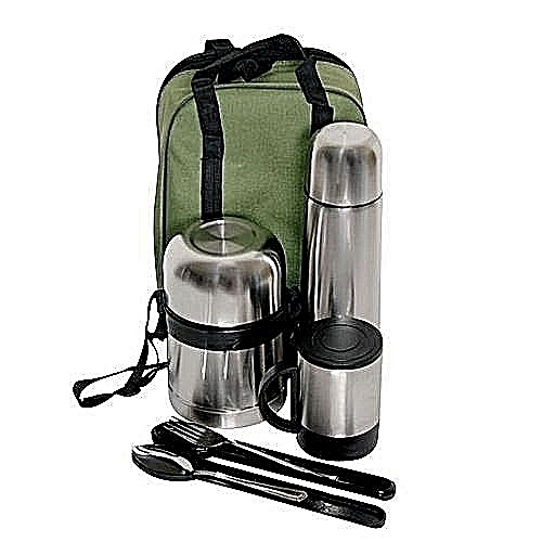 Vacuum Food Container, Flask, Mug, Fork & Spoon Set