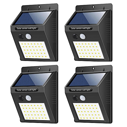 【4 Pack】35 LED Solar Lights Outdoor Lighting, Waterproof Solar Powered  Motion Sensor Light Wireless Security Lights Outside Wall Lamp For Driveway