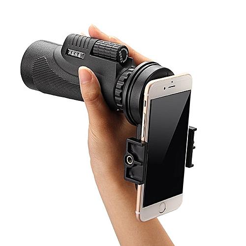 50x Zoom HD Optical Monocular Telescope Lens Mobile Phone Camera+Tripod - Black