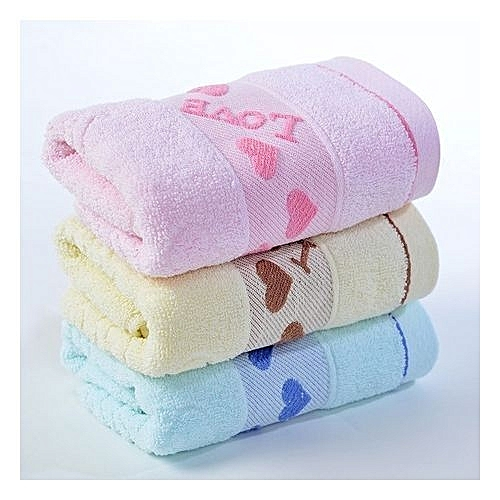 Baby Towel 3 In 1 Set-Cream/Pink/Blue