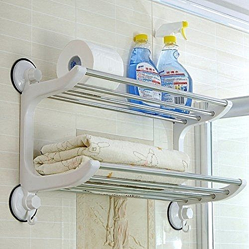 Double Towel Rack Rail Shelf