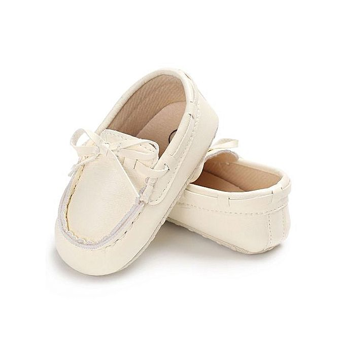 Kids Baby Boy Girl Shoes Leather Soft Bottom Toddler White