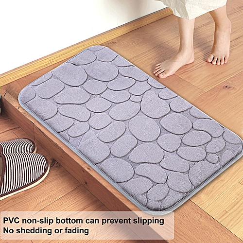 Simple Style Kitchen Bathroom Water Absorbent Non-slip Floor Mat