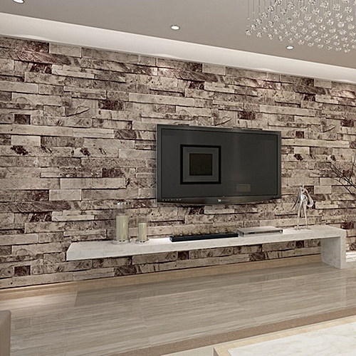 10M 3D PVC Wall Paper Brick Stone Effect For Living Room Background Decor Roll