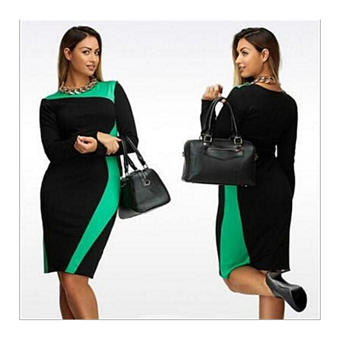 3277c523012 Large Size Dresses For OL Ladies Business Office Dresses Wear To Work  Elegant Pice Hip Simple