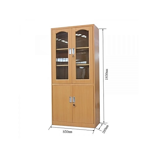 Steel Double Opening Glass And Double Door Storage File Locker
