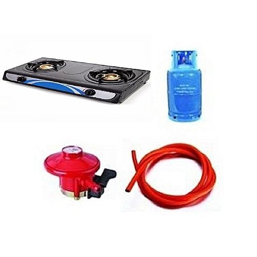 Generic Gas Cooker With 12 5 Kg Empty Gas Cylinder Regulator Hose