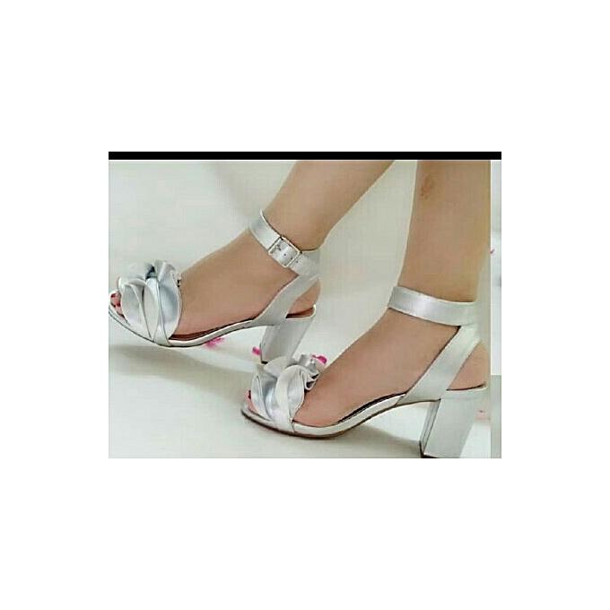 b6e386be4c9 Fashion Classy Ladies Heels Sandals- SILVER