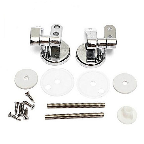 Lienine_Pair Of Solid Chrome Toilet Seat Hinges Includes Fittings Fixings