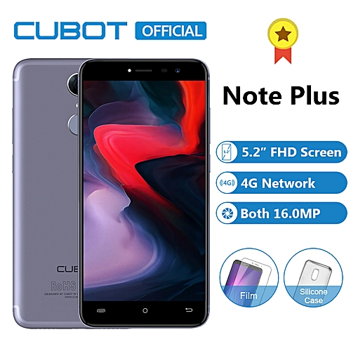 "Note Plus - 5.2"" 3GB/32GB Fingerprint 16MP + 16MP Android 7.0 4G Smartphone EU - Blue"