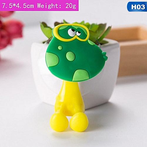 Shinewerop Children Cute Sucker-type Hooks Cartoon Animal Shape Toothbrush Holders
