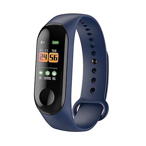 Sports Fitness Watch Activity Tracker Smart Wristband(Blue)