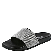 ecf7cd009f2d Women  039 s Sparkles Pool Slide Sandals - Black