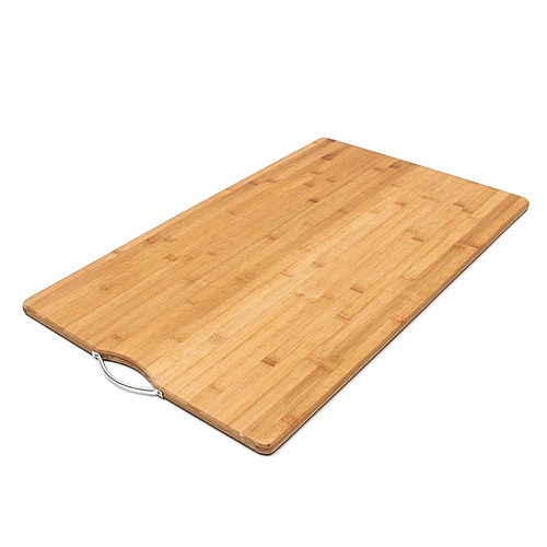 Carbonised Kitchen Bamboo Cutting Chopping Board With Hook 50 X80 Cm