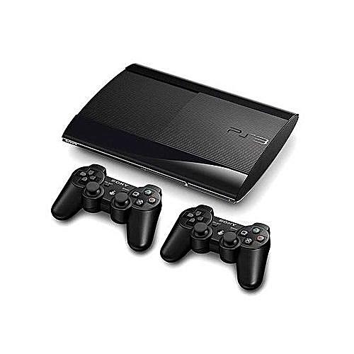 Playstation 3 500GB Super Slim Console + 18 Bonus Games + 2 Dual Shock3 Controllers