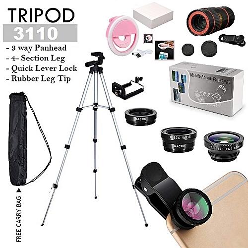 Custom 3110 Tripod For With Fish Lens, Ring Light & Telescope