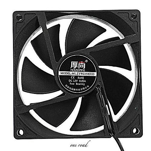 12V DC 90x90x25mm Double Ball Bearing 4400RPM PC Air Cooling Fan Heatsink