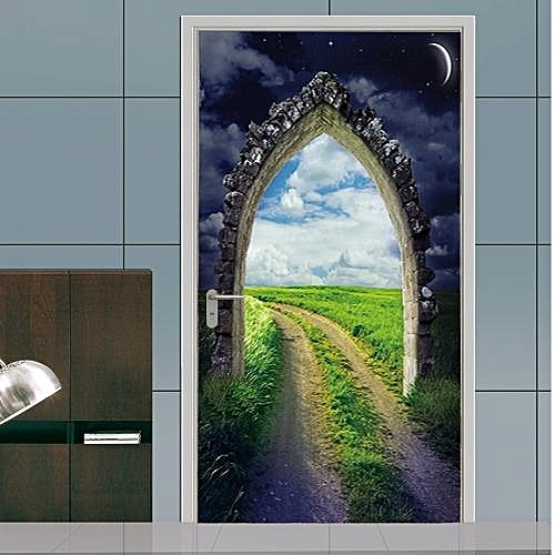 Removable Self-Adhesive 3D Arched Door Stickers