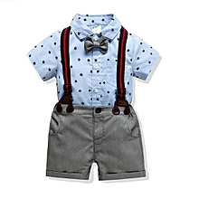 Baby Boy's Cotton HaYi + Shorts 4 Piece Suit - (0